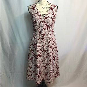 Anne Taylor red floral dress size 4